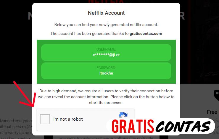 gerador contas netflix gratis