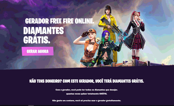 gerador diamantes free fire